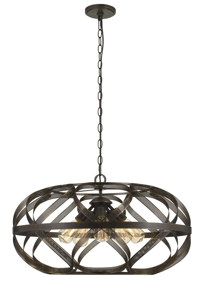 awesome Northwoods Lighting Fixtures Part - 6: 60W X 5 Alma 5 Light Metal Mesh Pendant Fixture (Edison Bulbs Not Included)